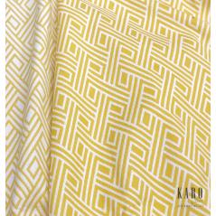 Metraj draperie si tapiterie cu 2 fete Tirreno alb cu galben