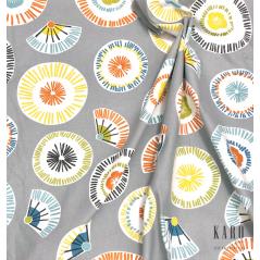 Metraj draperie bumbac cu Coconino cu design multicolor