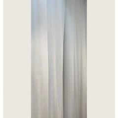 Perdea simpla sidefata ivoire confectionata pe rejansa 460x260 cm