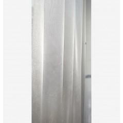 Perdea simpla sidefata gri deschis confectionata pe rejansa 200x260 cm