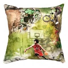 Perna decorativa tematica cu activitati sportive pe fond verde