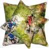 Perna decorativa tematica cu activitati sportive 2 pe fond verde