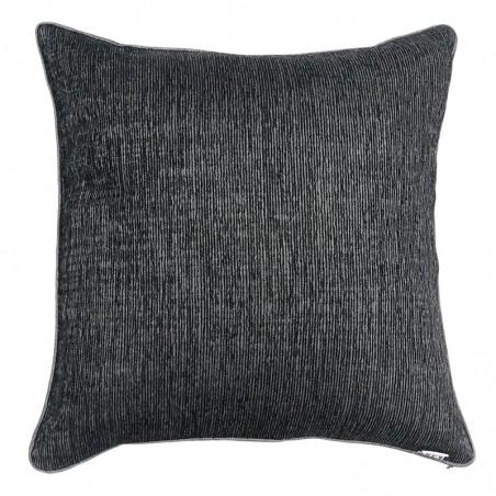 Perna decorativa simpla cu design texturat gri inchis cu argintiu