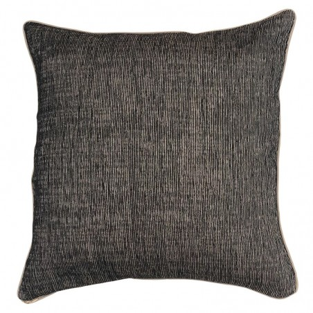 Perna decorativa simpla cu design texturat gri inchis cu bej