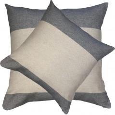 Perna decorativa simpla cu aspect texturat crem cu gri