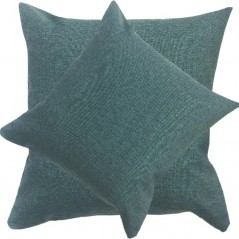 Perna decorativa simpla cu aspect natural de sac turcoaz inchis