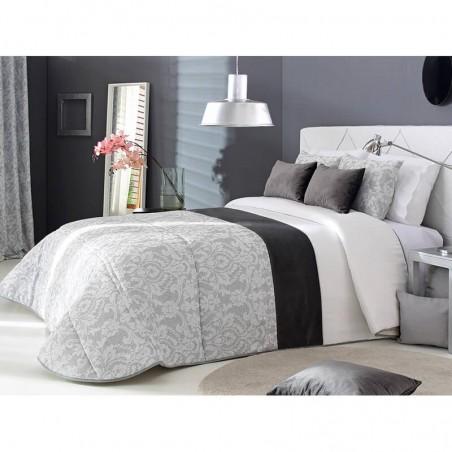 Cuvertura de pat eleganta Acanto cu design elegant gri