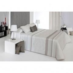 Cuvertura de pat eleganta alb cu bej Amanda