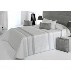 Cuvertura de pat eleganta alb cu gri Amanda