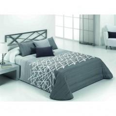 Cuvertura de pat matlasata Edgar gri cu alb