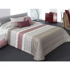 Cuvertura de pat moderna Forbes gri cu bej