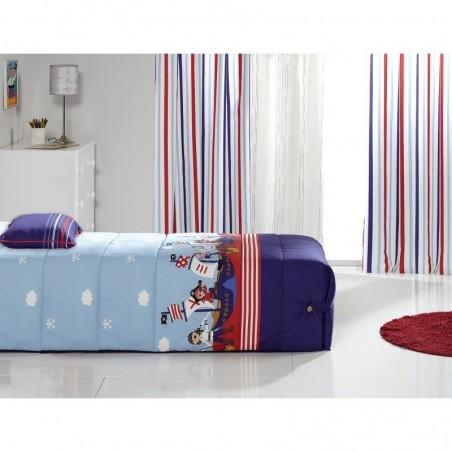 Cuvertura de pat baieti cu pirati Piratas 02 albastru cu bleu