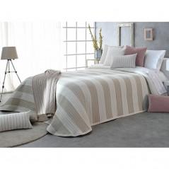 Cuvertura de pat cu fata cu design geometric reliefat