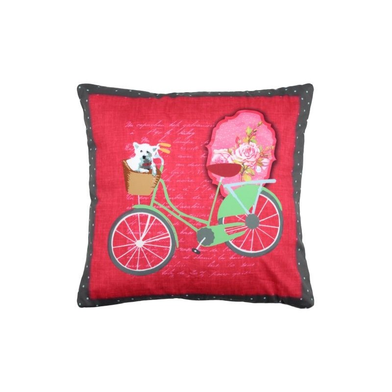 Pernuta decorativa cu bicicleta