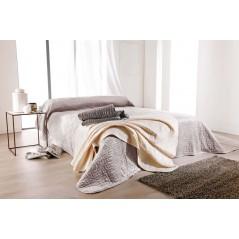 Cuvertura de pat matlasata grej Cipriani