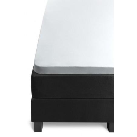 Cearceaf de pat Olanda cu elastic alb, natural, 100% bumbac