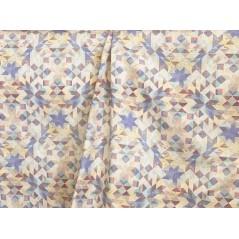 Metraj draperie si tapiterie model abstract lila cu crem
