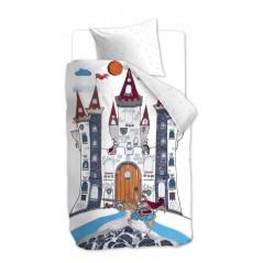 Lenjerie de pat pt baieti castelul dragonului