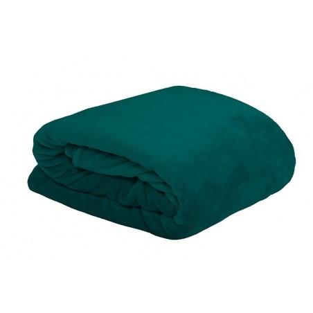 Patura pufoasa Doudou verde turcoaz inchis 130x160 cm