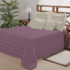 Cuvertura de pat mov cu dungi