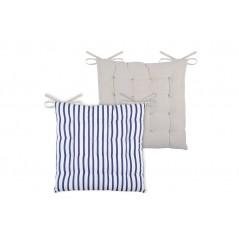Perna scaun marinaresc Nautical dungi alb cu albastru