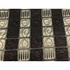 Metraj draperie maro cu imprimeu geometric