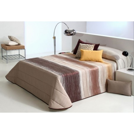 Cuvertura de pat matlasata maro cu bej Filter