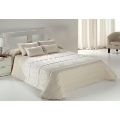 Cuvertura de pat eleganta crem cu alb Tenor