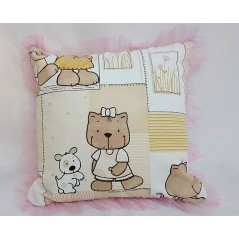 Perna decorativa pentru copii cu ursuleti si volanas