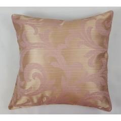 Set 2 perne decorative bej auriu cu roz