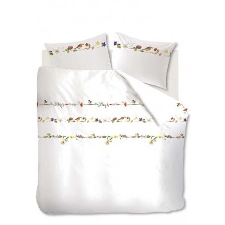 Lenjerie de pat alba din bumbac Guirlande