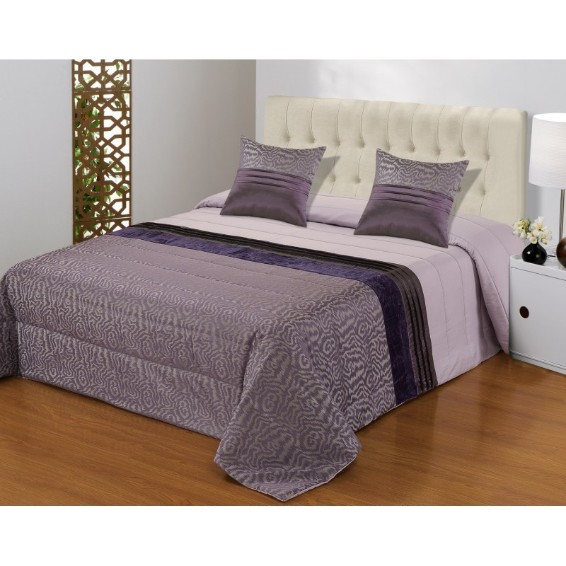Set cuvertura de pat cu 2 fete de perna elegant mov