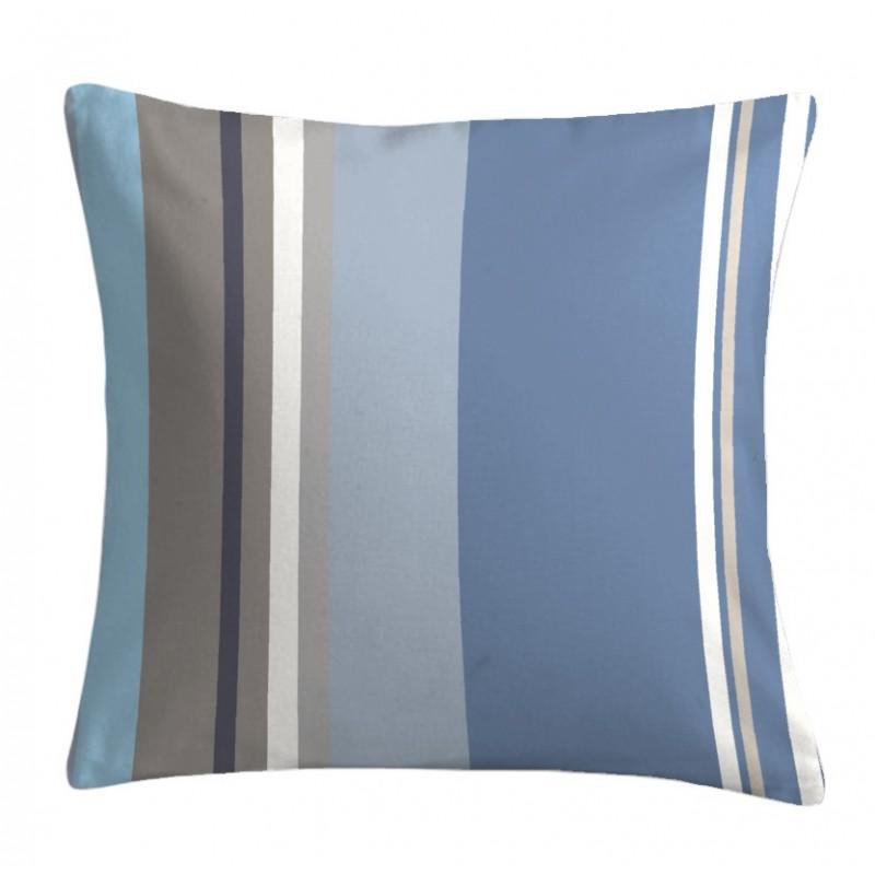 Perna decorativa bumbac cu dungi Santacruz bleu