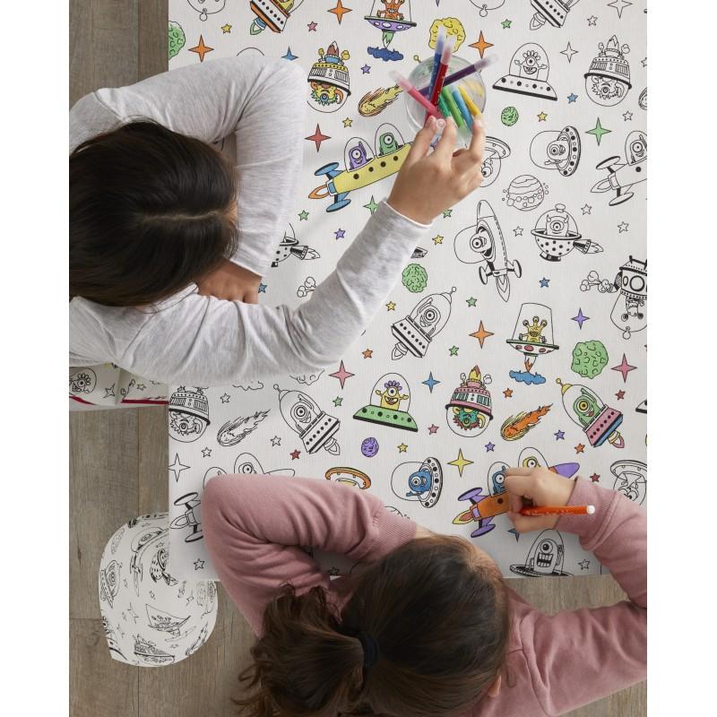 Fata de masa de colorat pentru copii Aliens