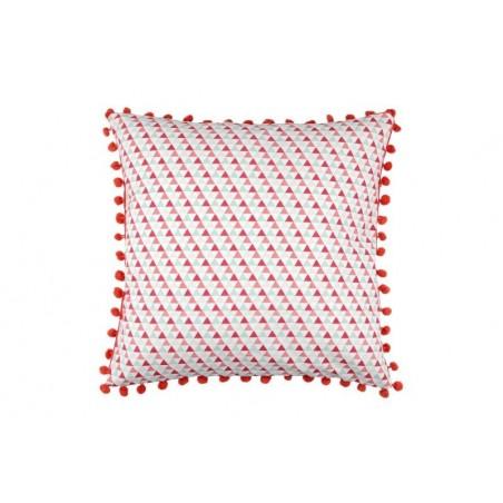 Perna decorativa cu imprimeu geometric Isocele rosu
