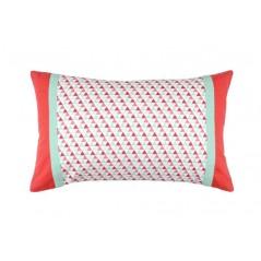 Perna decorativa dreptunghiulara cu imprimeu geometric Isocele rosu