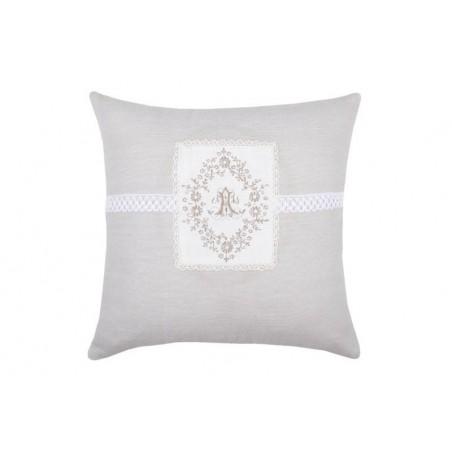 Perna decorativa Charmille gri cu alb