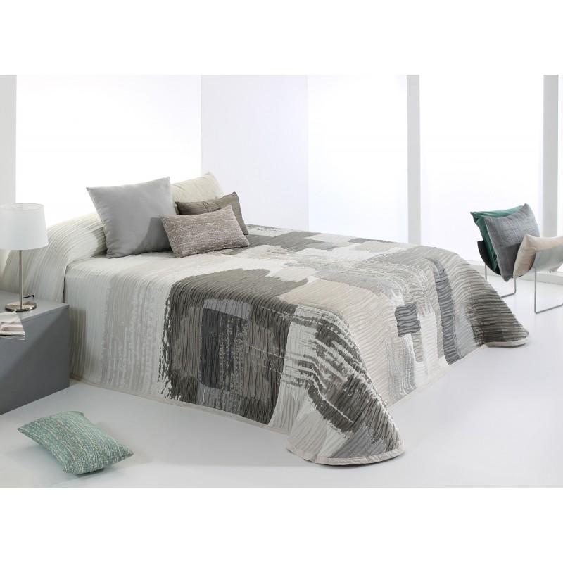 Cuvertura de pat moderna Bryce gri cu bej