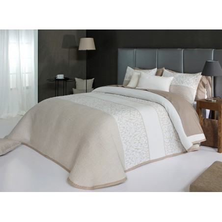 Cuvertura de pat eleganta Cream alb cu crem