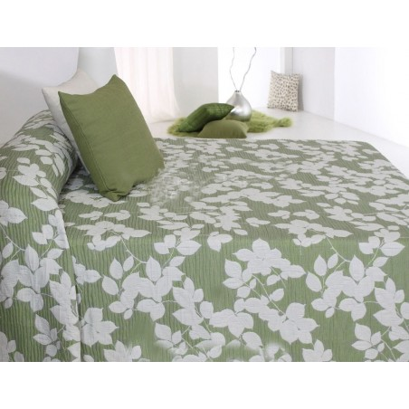 Cuvertura Octavia verde cu alb