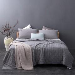 Set cuvertura de pat cu 2 fete de perna Iroise gri