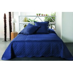 Set cuvertura de pat cu 2 fete de perna Californie albastru