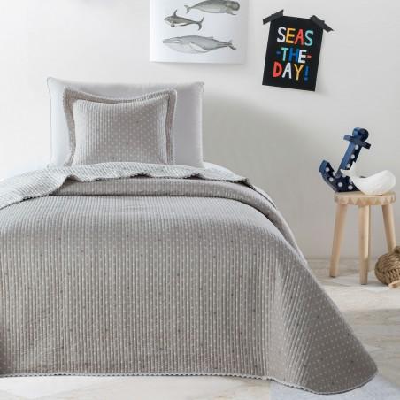 Set cuvertura de pat cu o fata de perna Stella Bej