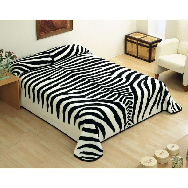 Patura cuvertura de pat dublu Zebra