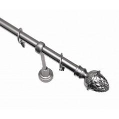 Galerie simpla metal Sonet Ø19mm argintiu mat (kit complet)