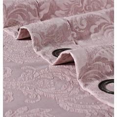 Draperie jacquard confectionata cu inele Chenilla Ornamental Mov