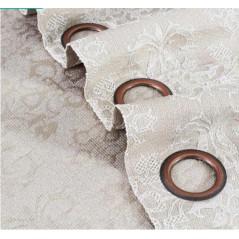 Draperie jacquard confectionata cu inele Iguazu Nisipiu