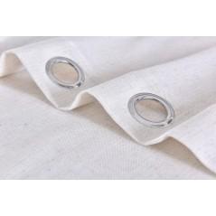 Draperie semi-transparenta confectionata cu inele Coria Natural