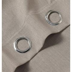 Draperie semi-transparenta confectionata cu inele Coria Bej inchis