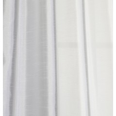 Draperie satinata semi-transparenta confectionata cu inele Bon Natural